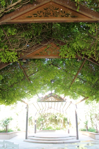 Incredible rose wisteria arbor for weddings