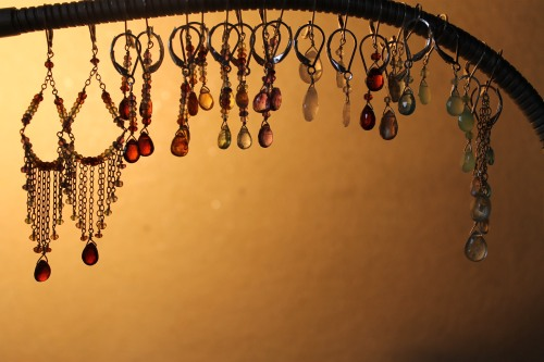 Freshly made earrings