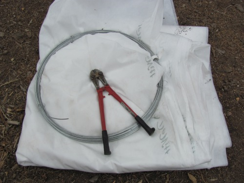 Row Cover and 9 gauge Wire